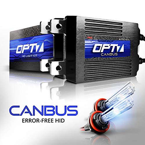 OPT7 Boltzen AC CANbus H11 H8 H9 HID Kit - 5X Brighter - 6X Longer Life - All Bulb Sizes and Colors - 2 Yr Warranty [6000K Lightning Blue Xenon Light]