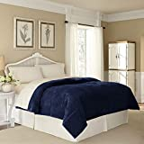WestPoint Home Plush Luxury Super Soft, Fluffy and Fuzzy Comfortable Lightweight, Warm and Cozy Microfiber Blanket for All Season, Full/Queen, Midnight Blue