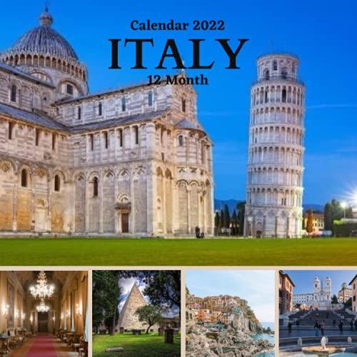 Italy Wall Calendar 2022: 12 Month Calendar 2022 with high quality