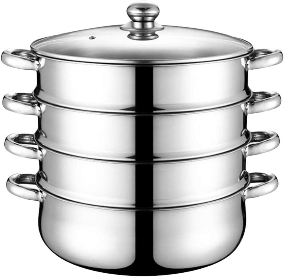 HEMOTON Stainless Steel Steamer Pot S Cookware 商舗 Stockpot Steaming 売却