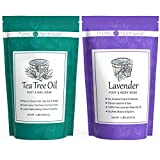 Tea-Tree-Oil-Foot-Soak + Lavender Essential Oil Foot Soak With Epsom Salt. Great Gift for That Special Someone. Soothes Sore, Tired Feet and Softens Calloused Heels.