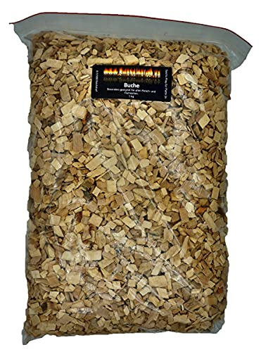 Smokerholz24.de BBQ Woodchips Räucherchips Buche1 KG Grill-Chips