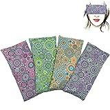 Almohada para los ojos 'Pack de 4 - Mandalas' | Semillas de Lavanda y arroz | Yoga, Meditación, Relajación, descanso de ojos