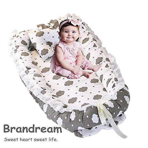 Why Should You Buy Brandream Baby Nest Bed Cloud, Gray Baby Bassinet for Crib Portable Newborn Bed w...