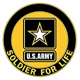 Honor Country U.S. Army Soldier for Life Logo 3.25'x3.25' Decal