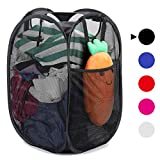 [Reinforced] Strong Mesh Pop-up Laundry Hamper, Quality Laundry Basket with Durable Handles Solid...