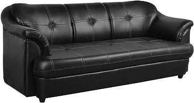 CasaStyle Reecon 3 Seater Sofa (Black)