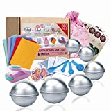 SWISSELITE - Molde para bombas de baño, 3 tamaños, molde de bricolaje, cucharas, bolsas de arpa, bolsas de regalo y banda de goma para manualidades con tus propios encantos (369 unidades)
