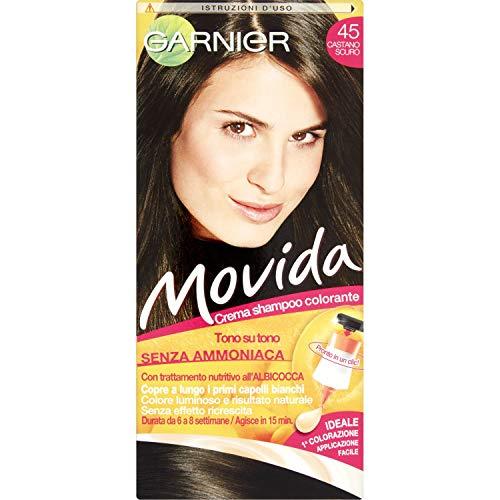 Garnier Movida Crema Shampoo Colorante, 45 Castano Scuro