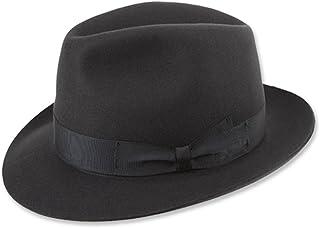 68403d32a4d Borsalino Classic Fedora Hat-Charcoal Grey