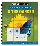 Brain Games - Sticker by Number: In the Garden (Easy - Square Stickers): Create Beautiful Art With Easy to Use Sticker Fun!