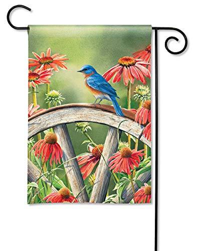 BreezeArt Studio M Bluebird Visit Decorative Garden Flag – Premium Quality, 12.5 x 18 Inches