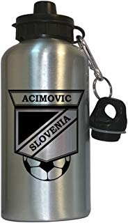 Milenko Acimovic (Slovenia) Soccer Water Bottle Silver