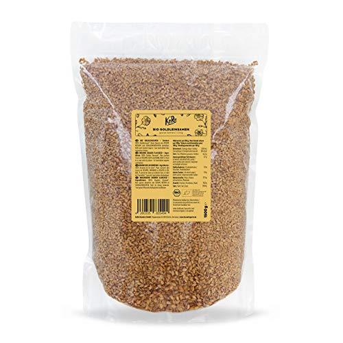 KoRo - Bio Goldleinsamen 1,5 kg - Leinsamen in gold, naturbelassen und rein pflanzlich, hervorragend im Müsli oder Brot