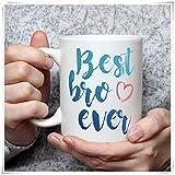 Not Applicable Best Bro Ever Mug 11oz Cerámica Taza Novedad Taza de café Set Café o té
