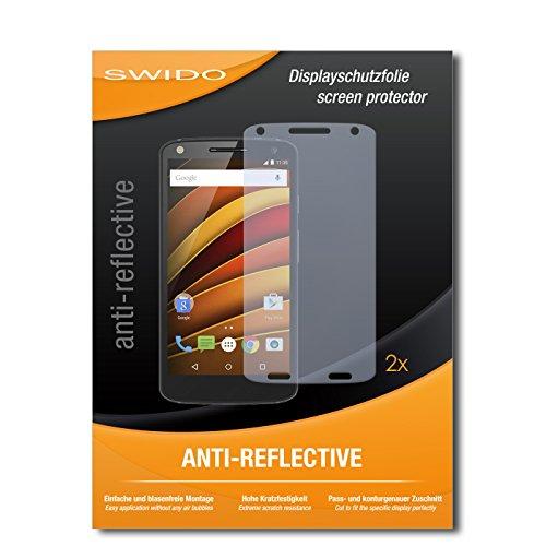 SWIDO® Schutzfolie für Motorola Moto X Force [2 Stück] Anti-Reflex MATT Entspiegelnd, Hoher Festigkeitgrad, Schutz vor Kratzer, Folie, Bildschirmschutz, Bildschirmschutzfolie, Panzerglas-Folie