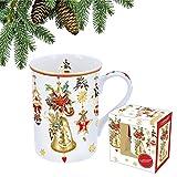 CARMANI - Porzellan-Becher mit einem Thema Weihnachten dekoriert 400ml