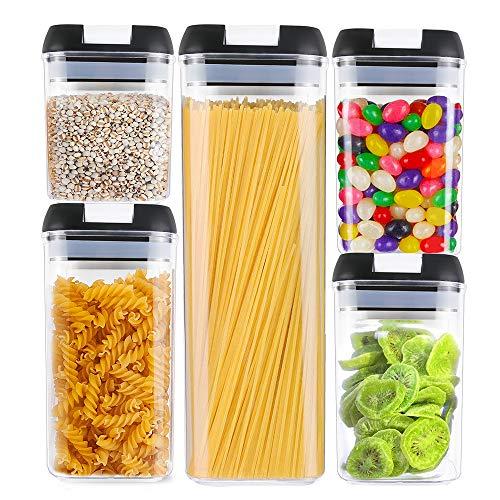 Pasta e Altro-700ml Xnuoyo Contenitori Ermetici per Alimenti Contenitori Impilabili per Cucina e Dispensa con Coperchi Easy Lock Ideali per Farina Cereali Snack Noci
