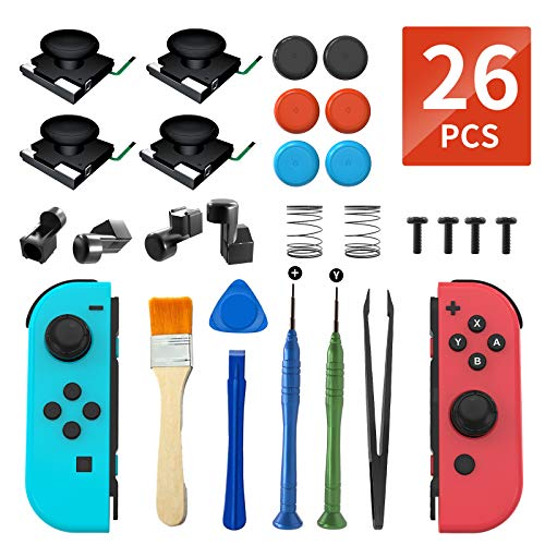 Joy Con Buckle Repair Tool Kit for Nintendo Switch NS Joy Con With Replacement Parts Of Left and Right Metal Lock Buckle,Screwdrivers,Screws,Crowbar,Sping Made By OLCLSS