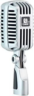 CAROL Classic Retro Dynamic Vocal Microphone - Old Vintage Style Super-Cardioid Mic - Live Performance in-Studio Recording - CLM-101
