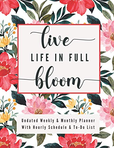 Undated Weekly & Monthly Planner With Hourly Schedule: Vertical Planner With Daily To Do List, Hourly Schedule & Meal Planner, To Help You Get ... Bring Peace To Your Day! (Run With Purpose)