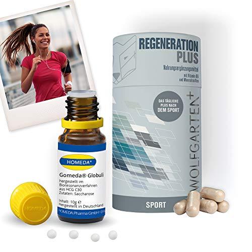 HOMEDA GOMEDA Set Regeneration • hCG-Globuli • Globuli und Nahrungsergänzungsmittel inkl. Vitaminen und Mineralstoffen für Deine 21-Tage-hCG-Kur