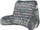 MYOOLOO Reading Pillow Bed Wedge with Arms and Pockets Bolster Back Support Lumbar