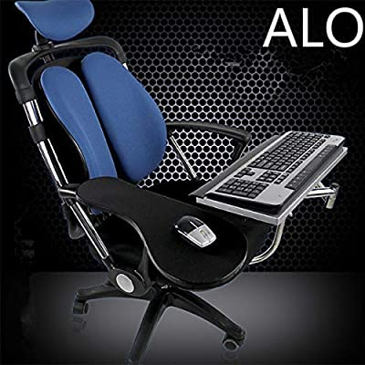 ALO Stand Ergonomic Laptop/Keyboard/Mouse Stand/Mount/Holder Installed to Chair