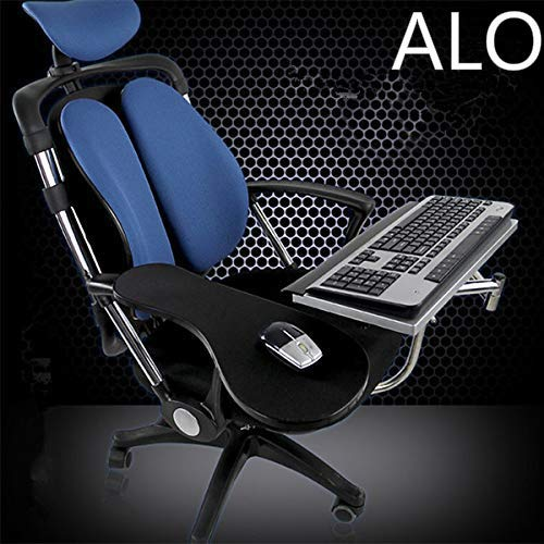 ALO Stand Ergonomic Laptop/Keyboard/Mouse Stand/Mount/Holder Installed to Chair (Black) Accessories Laptop