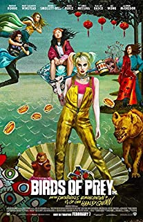 """Harley Quinn BIRDS OF PREY Movie 2020 Promotional Poster 11 1/2"""" X 17"""" NEW"""