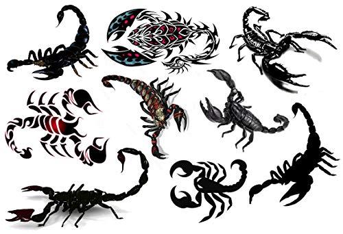 Collezione di tatuaggi temporanei Temporary Tattoos collection (Tatuaggio Scorpione Scorpion Tattoo)
