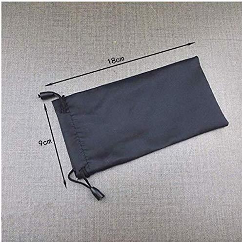 Glasses Storage Bag, Portable Drawstring Waterproof for Glasses Sunglasses Pouch, 10Pcs, Black