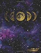 2020-2021 Planner: Golden Phases Of The Moon 2 Year Weekly and Daily Organizer, Calendar & Agenda with Funny Holidays, To-Do's, Inspirational Quotes, ... & Vision Boards - Galaxy Print Collection