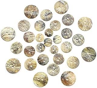 50Pcs Multi Sizes 2-Holes Shell Round Buttons DIY Scrapbook Sewing Garment Button Flatback Dccessories 004010028
