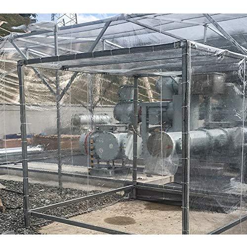 YYFANG Lona Transparente, Lona Impermeable Transparente para Jardín Lámina De Plástico PE De Doble Capa Engrosada Hoja De Flor-Planta Cubierta Impermeable, 240g / M² (Color : Claro, Size : 4x8m)