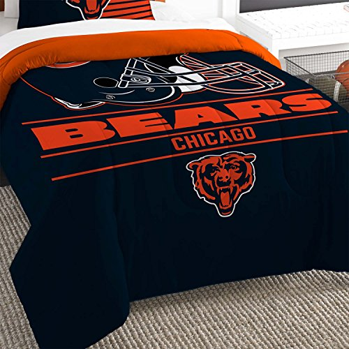 Chicago Bears NFL Royal Plush Raschel Blanket (Big Burst Series) (60x80 )