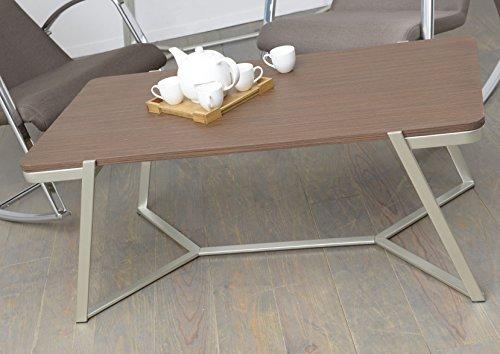Korb Table Basse Design Noyer foncé