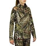 Mossy Oak Womens Hunting Clothes, Womens Hunting Shirts, Camo Quarter Zip