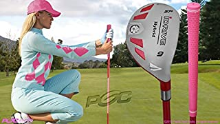 Integra Women's iDrive Golf Club All Ladies Pink Hybrid #9 Lady Flex Right Handed New Utility L Flex Club