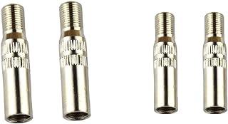 4 Pcs Tappo Estensione Di Valvola Pneumatico Nero 39mm Per Automobilo