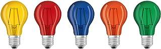 Osram Star+ Lot de 5 Ampoules LED à Filament Colorés   Culot E27   Forme Standard
