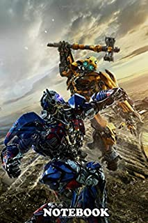 Notebook: Transformers Fight Between Optimus And Bumblebee , Journal for Writing, College Ruled Size 6