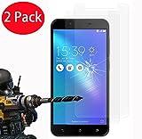 2 Pack - Asus Zenfone 3 Max ZC553KL Verre Trempé, Vitre Protection Film de protecteur d'écran...