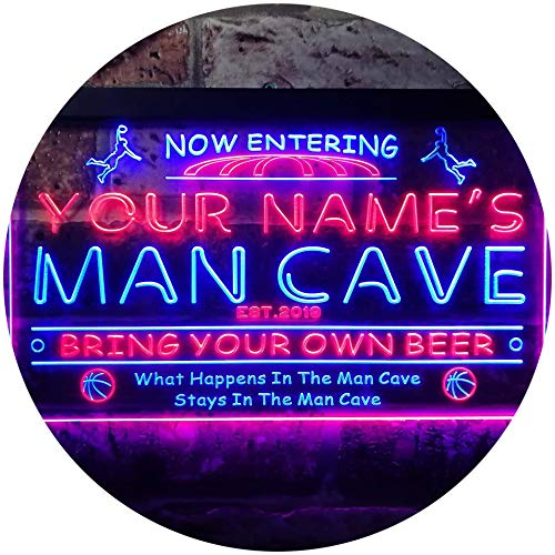 Basketball Man Cave Sports Bar LED Neon Sign