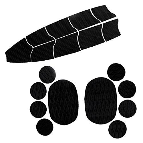 Gazechimp 9 Piezas Almohadilla de Tracción + 10 Piezas Cojín de Agarre para Perro Acceosorios para Tabla de Surf SUP