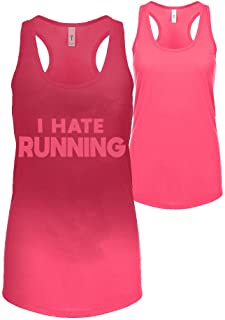 Sweat Activated Gift Tank Top with Motivational Hidden Message I Hate Running for Women