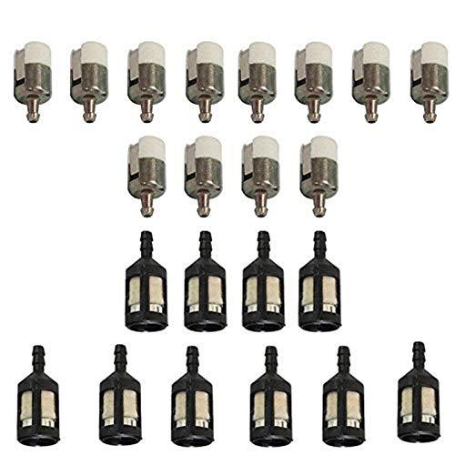 OxoxO repuesto de filtro de combustible para ZF-1 ZF1 49422 216985 Tecumseh 410263 soplador de semilla para desbrozadora con línea de combustible de 1/8' ID 125-527 131-205-07320 3112