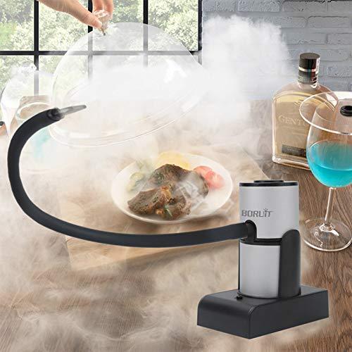 JINQII Defumador portátil de alimentos – Fumador portátil para cozinha molecular com serra, churrasco, defumador de alimentos frios para alimentos, coquetéis, bebidas, bifes, infusor de fumaça de salmão