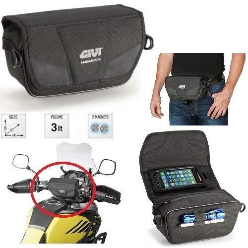 Para KTM Givi T516 para moto, estuche o riñonera de cintura con correas ajustables y desmontables, universal, color negro, 130 x 90 x 240 cm