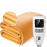ZHFF Manta eléctrica de Confort Premium: Control con 4 configuraciones de Calor, protección contra sobrecalentamiento...